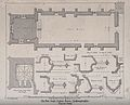 Bede House, Higham Ferrers, Northamptonshire; floor plans. T Wellcome V0012753.jpg