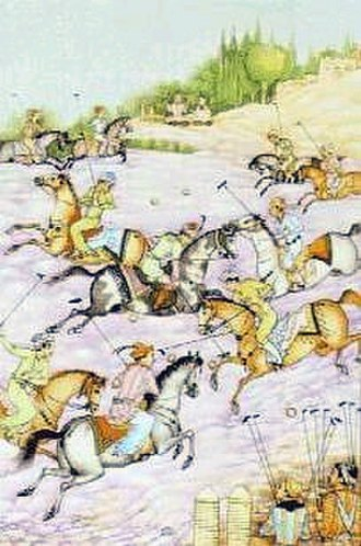 Sport in Iran - A Polo scene in Old Persia, depicted by Hossein Behzad.