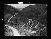 Beit Ed-Din. The Shehab Palace (held as a national monument). Lebanon. Hairpin bends in Damour valley. Called malaet el-Damour- 'the fire-tongs' LOC matpc.15457.jpg