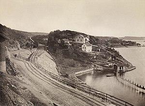 Bekkelaget Station - The station in 1880