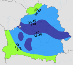 Belarus - average precipitation (January).png