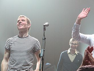 Stuart Murdoch (musician) - Murdoch with Belle and Sebastian in 2010 at the Wang Theatre in Boston