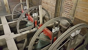 St Peter's Church, Bournemouth - Three of the bells in the tower