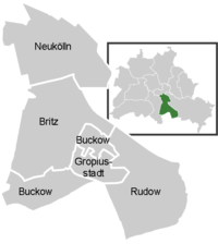 District map of Neukölln