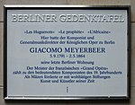 Berliner Gedenktafel Pariser Platz 6a (Mitte) Giacomo Meyerbeer.jpg