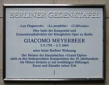 Berliner Gedenktafel am Haus Pariser Platz6a, in Berlin-Mitte (Quelle: Wikimedia)