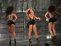 Beyonce with two female dancers 2013.jpg