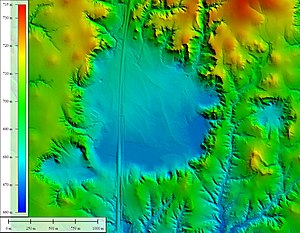 Big Basin Prairie Preserve - Image: Big Basin shaded elevation map