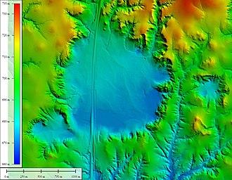 Big Basin Prairie Preserve - Image: Big Basin shaded elevation map