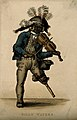 Billy Waters, a one-legged busker. Coloured engraving by T.L Wellcome V0007298.jpg