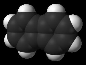 Biphenylene - Image: Biphenylene from xtal 3D vd W