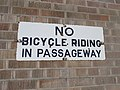 Bircolage Academy New Orleans No Bicycle sign.JPG