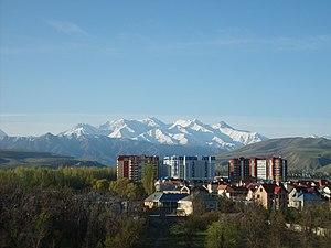 Bischkek – Blick auf das Gebirge