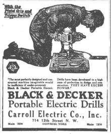 Black decker wikip dia - Perceuse electrique portative ...