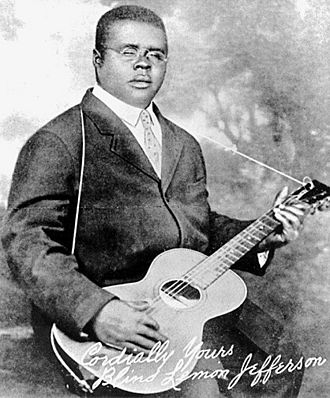 Blind Lemon Jefferson - Only known photograph of Jefferson, 1926