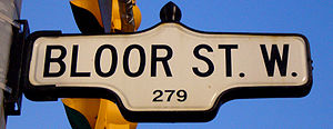 Street Sign for Bloor Street West, near St Geo...