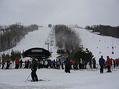 Ski slopes at Blue Mountain