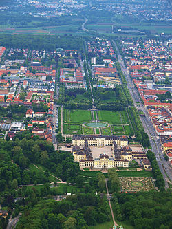 Aerial View Of Ludwigsburg Palace And Surrounding City From 2010