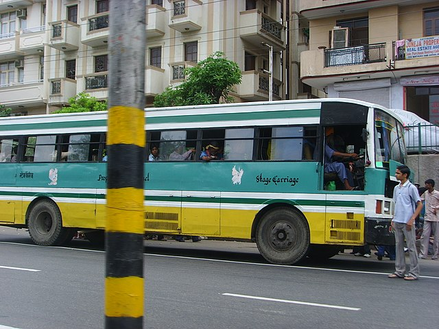 A Blue Line bus in Delhi.