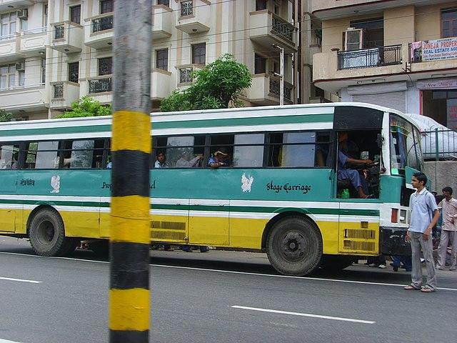A Blue Line bus in Delhi.