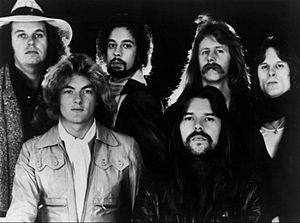 Bob Seger - Seger (bottom right) and the Silver Bullet Band in 1977.