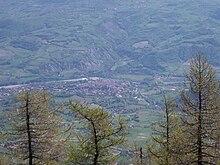 Veduta di Bobbio dalla vetta del Penice