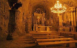 Bochnia - Bochnia Salt Mine. Underground church