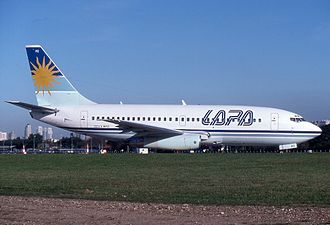 LAPA Flight 3142 - The aircraft involved in the accident, in LAPA colours. (1998)