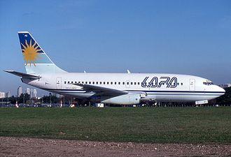 Líneas Aéreas Privadas Argentinas - Boeing 737-200C LV-WRZ, which crashed in LAPA Flight 3142, 1999