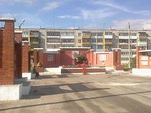 Bogdanovich (town) - A war memorial in Bogdanovich