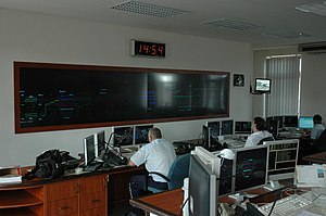 Train dispatcher - Local dispatchers at work at the central station in Bohumín, Czech Republic, in August 2008