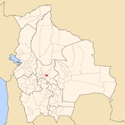 Location of the Arani Province within Bolivia