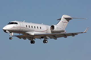 Business jet made by Bombardier Aerospace