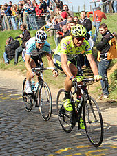 Photo de Tom Boonen et Filippo Pozzato.