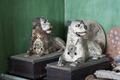 Bordsur iform av liggande tiger och lejon - Skoklosters slott - 94991.tif