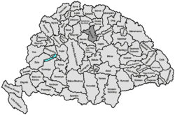 Location of Borsod