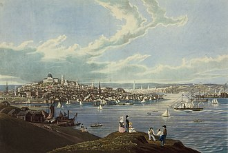 Boston - View of Boston from Dorchester Heights, 1841