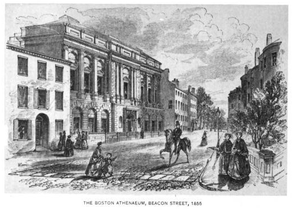 Athenæum, Beacon Street, 1855