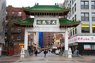 Greater Boston - Boston's Chinatown, with its paifang gate, is home to many Chinese and also Vietnamese restaurants.