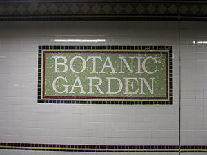 Franklin Avenue/Botanic Garden (New York City Subway) - Image: Botanic Garden BMT Franklin Avenue 0708