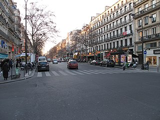 Boulevard Montmartre boulevard in Paris, France