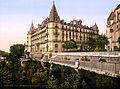 Boulevard des Pyrénées and Grand Hotel Gassion, Pau, Aquitaine, France, ca. 1895.jpg