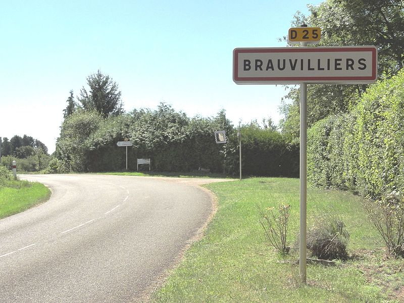 Brauvilliers (Meuse) city limit sign
