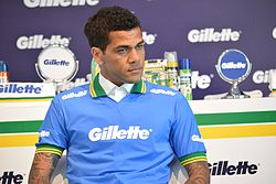 Brazil World Cup players at Gillette event - Daniel Alves.jpg