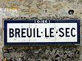 Breuil-le-Sec (60), plaque Michelin, RD 62e, 1934.JPG