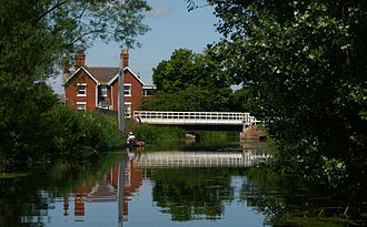 Driffield Navigation - The restored swing bridge at Brigham
