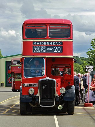 Thames Valley Traction - A preserved Thames Valley 1946 Bristol K bus at a bus rally at Oxford Bus Museum