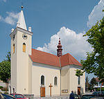 Brno-Řečkovice - Saint Lawrence church from southwest.jpg