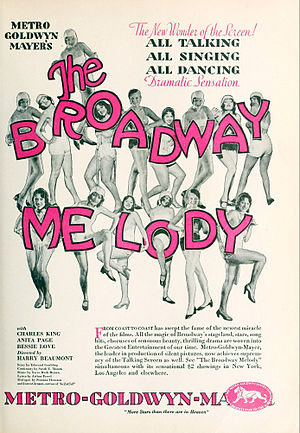 The Broadway Melody - Ad for the film as seen in most magazine publications of the time.