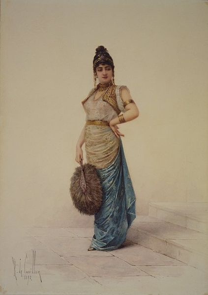 File:Brooklyn Museum - Harem Woman with Ostrich Fan - Louis-Robert de Cuvillon.jpg